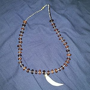 GENUINE LION'S TOOTH NECKLACE FROM KENYA MEN GIFT